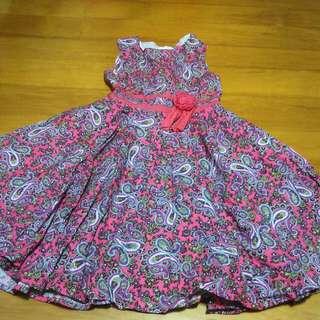 Pre-loved Sleeveless Floral Dress For Girls