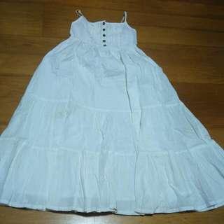 Pre-loved Sleeveless White Dress