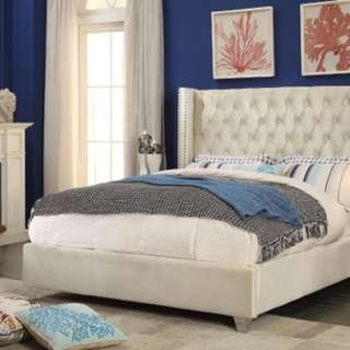 Brand New King Size Fabric Platform Bed