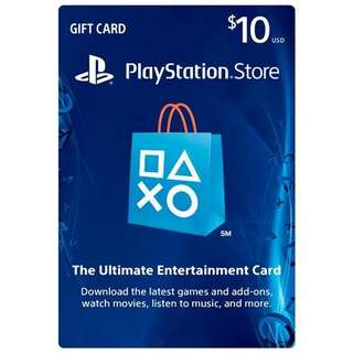 PSN Store Card USD10 Digital Code