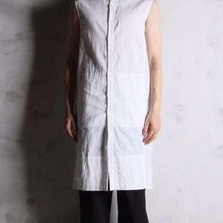 Immense 長版麻質削肩背心 無袖背心 上衣 可交流 Tran Rick Owens Y-3