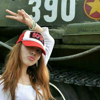 AC☇DC Red and White Cap