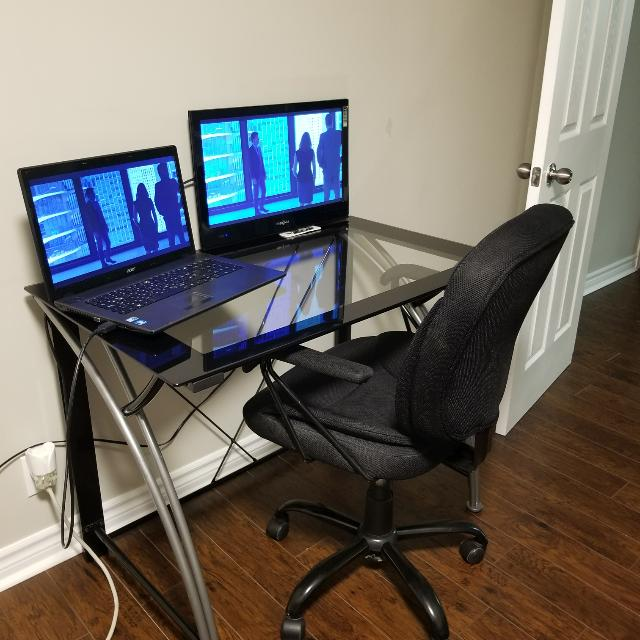3 Piece Office Work Station Table/ Desk