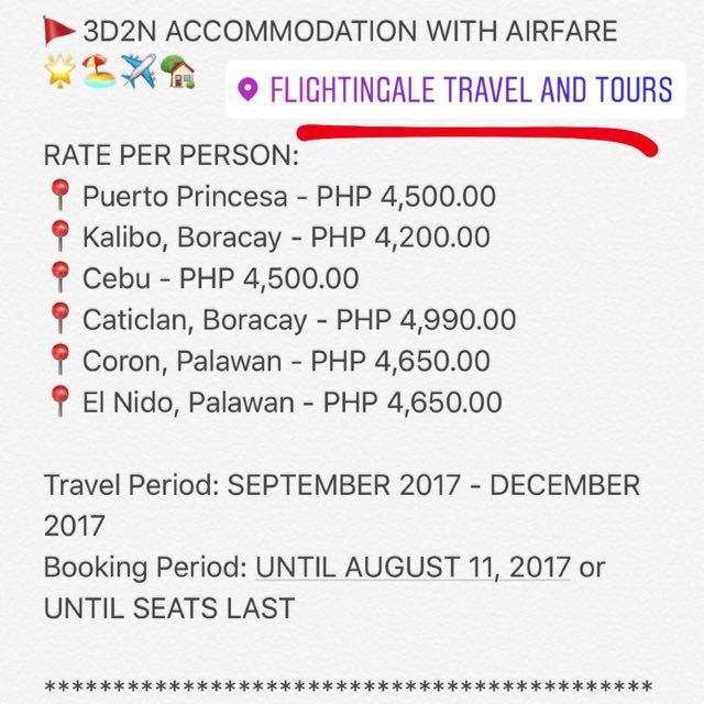 🚩3D|2N ACCOMMODATION WITH AIRFARE🌟✈️🏡