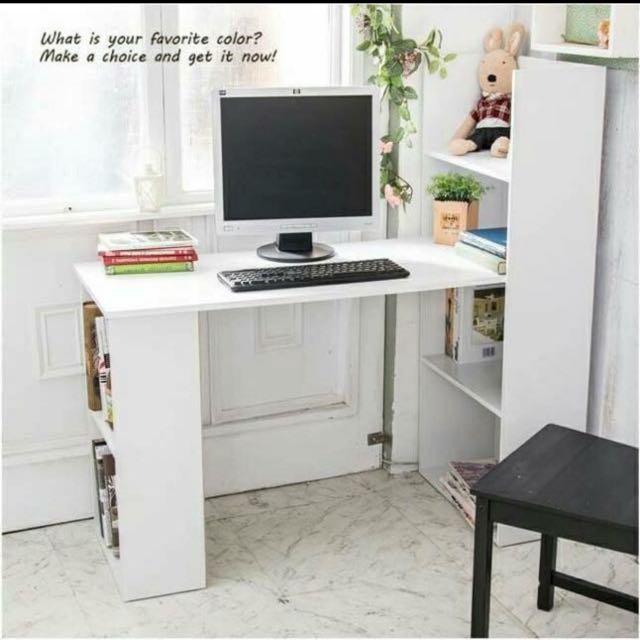 水漾4+2書櫃型書桌-四色可選