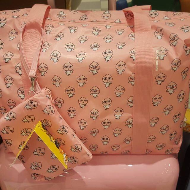 粉色蜜桃收納袋(韓國帶回)