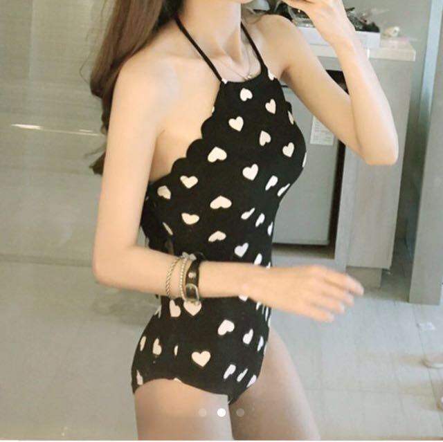 韓國愛心綁帶泳衣