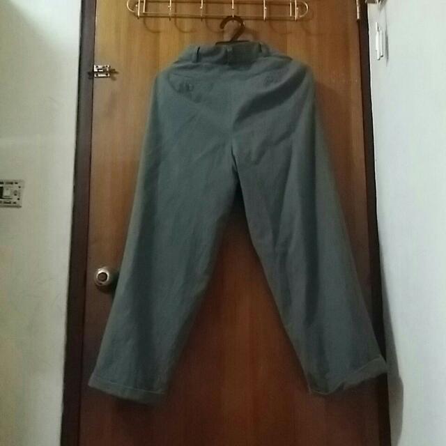 古着日本製毛料保暖厚褲