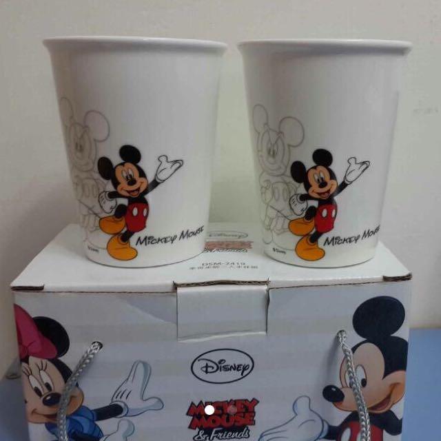 全新正版迪士尼米奇水杯組