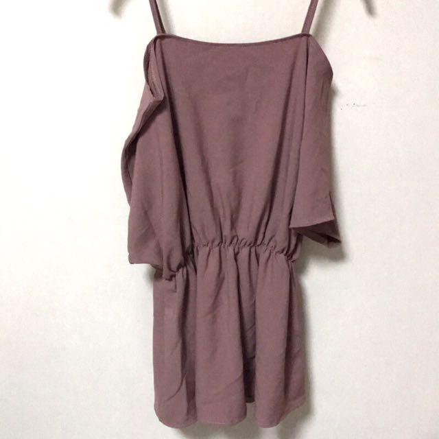 粉藕色連身裙