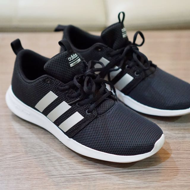 965b4ccd75cfb ... where to buy adidas neo cloudfoam swift racer black white mens fashion  mens footwear on carousell