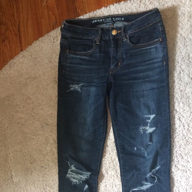 AEO Denim X Destroyed High Waisted Jeggings