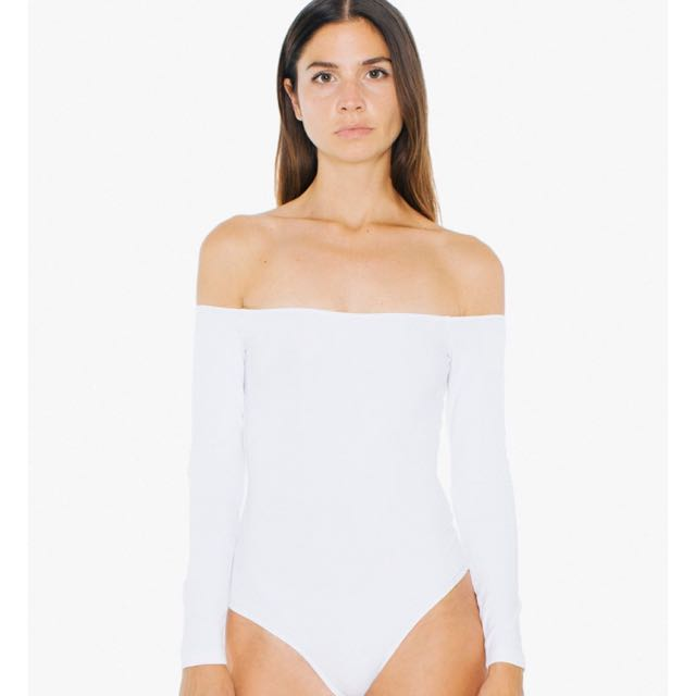 American Apparel Off The Shoulder Bodysuit