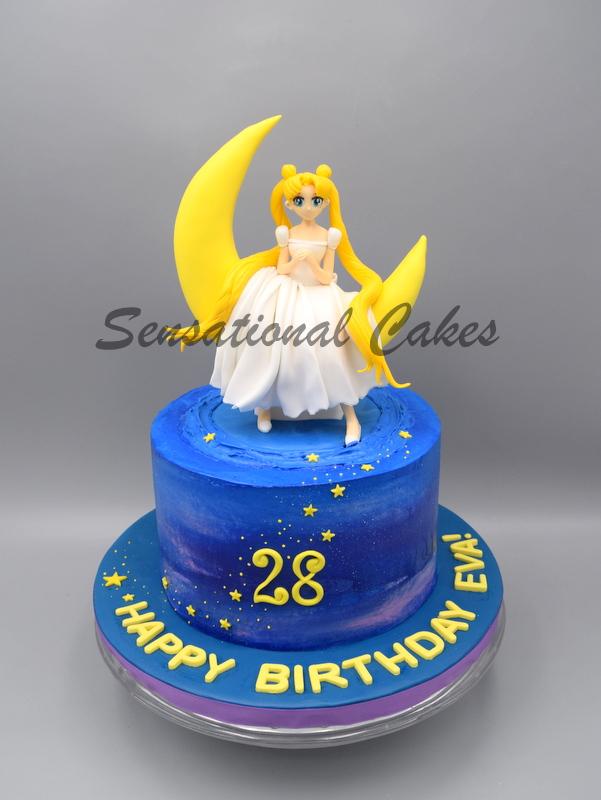 Tremendous Back Track 90S On This Sailor Moon Cake Cake Singapore Personalised Birthday Cards Beptaeletsinfo