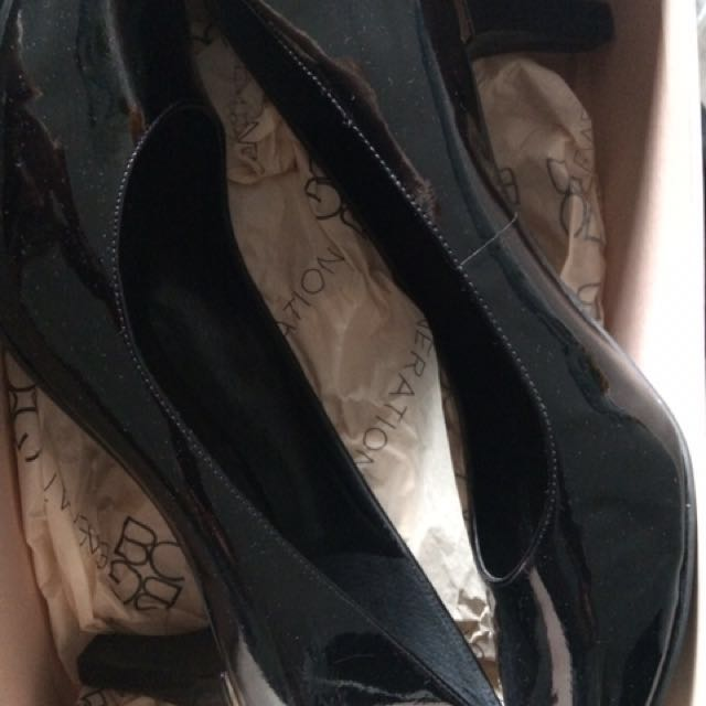 BCBG Black Patent Pumps