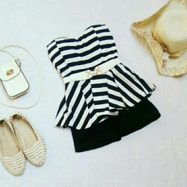 Black & White Tube Romper