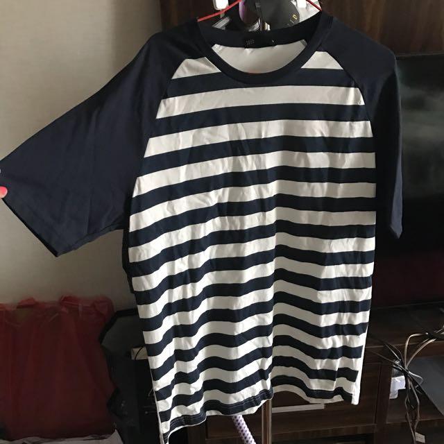 (New) Black & White Stripes Seed Tshirt