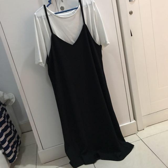 Black Midi Dress + Inner