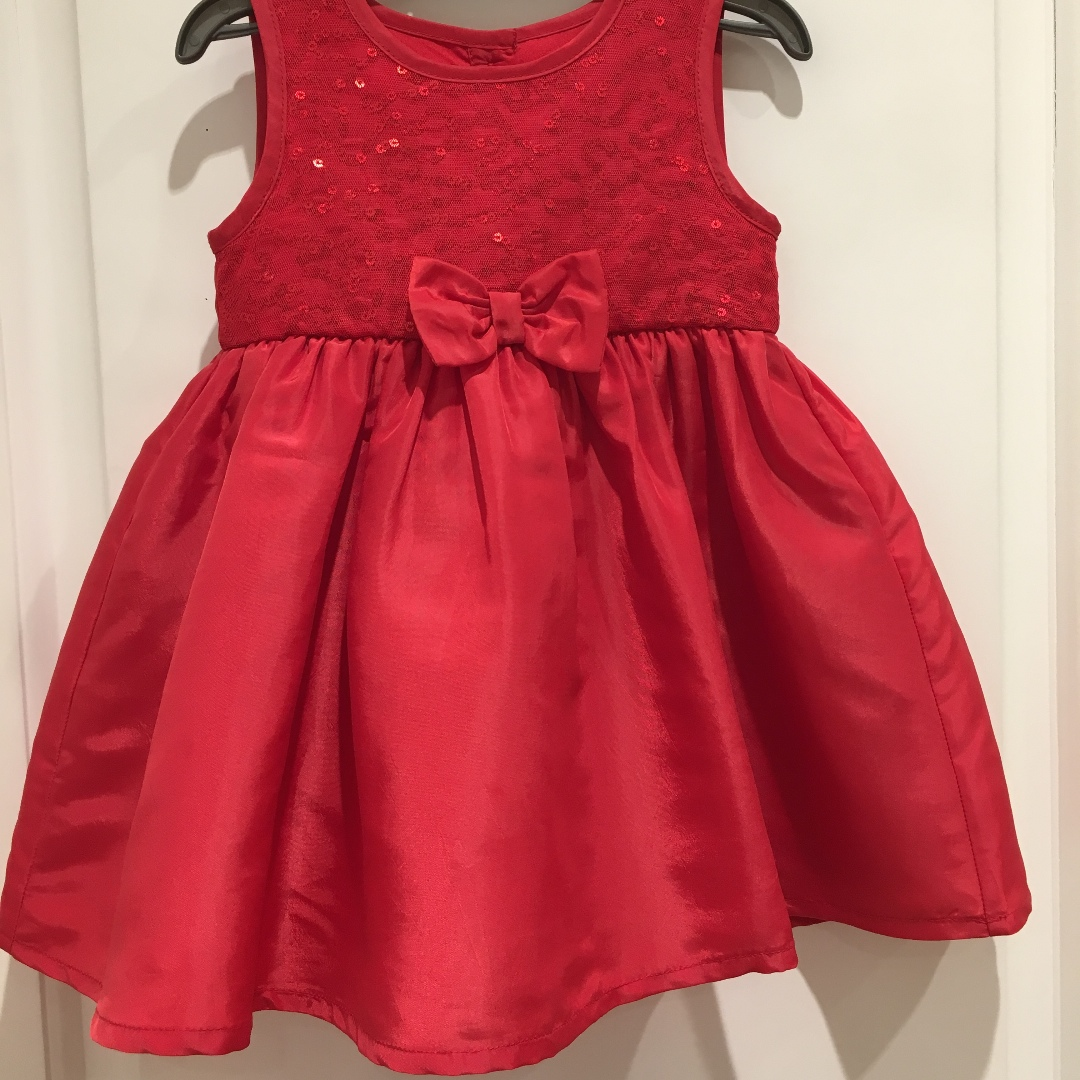 Blue Zoo Red Sequin Dress for baby girl