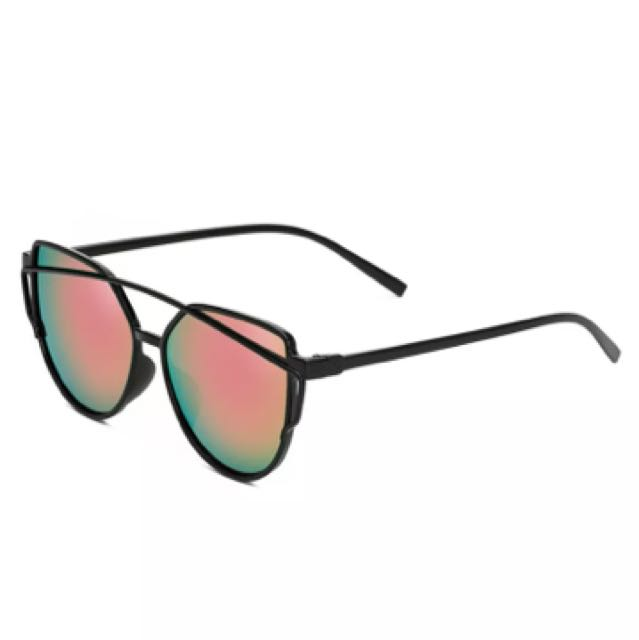 BN Reflective sunglasses - Pink Green Hue
