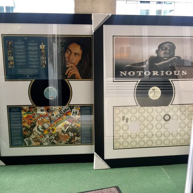 BOB MARLEY & BIGGY SMALLS RECORDS, Framed