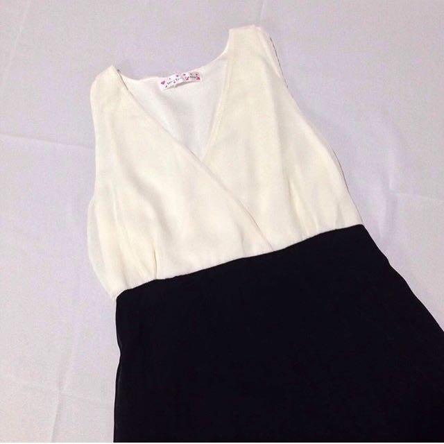 B&W Asymmetrical Dress