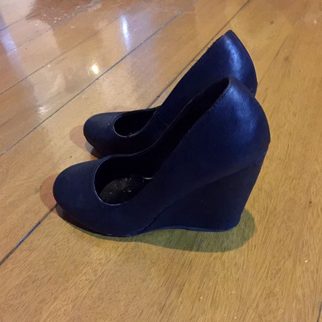 Call It Spring Black Leather Heels