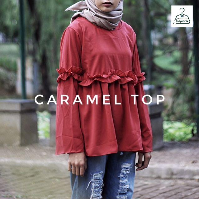 Caramel Top Maroon