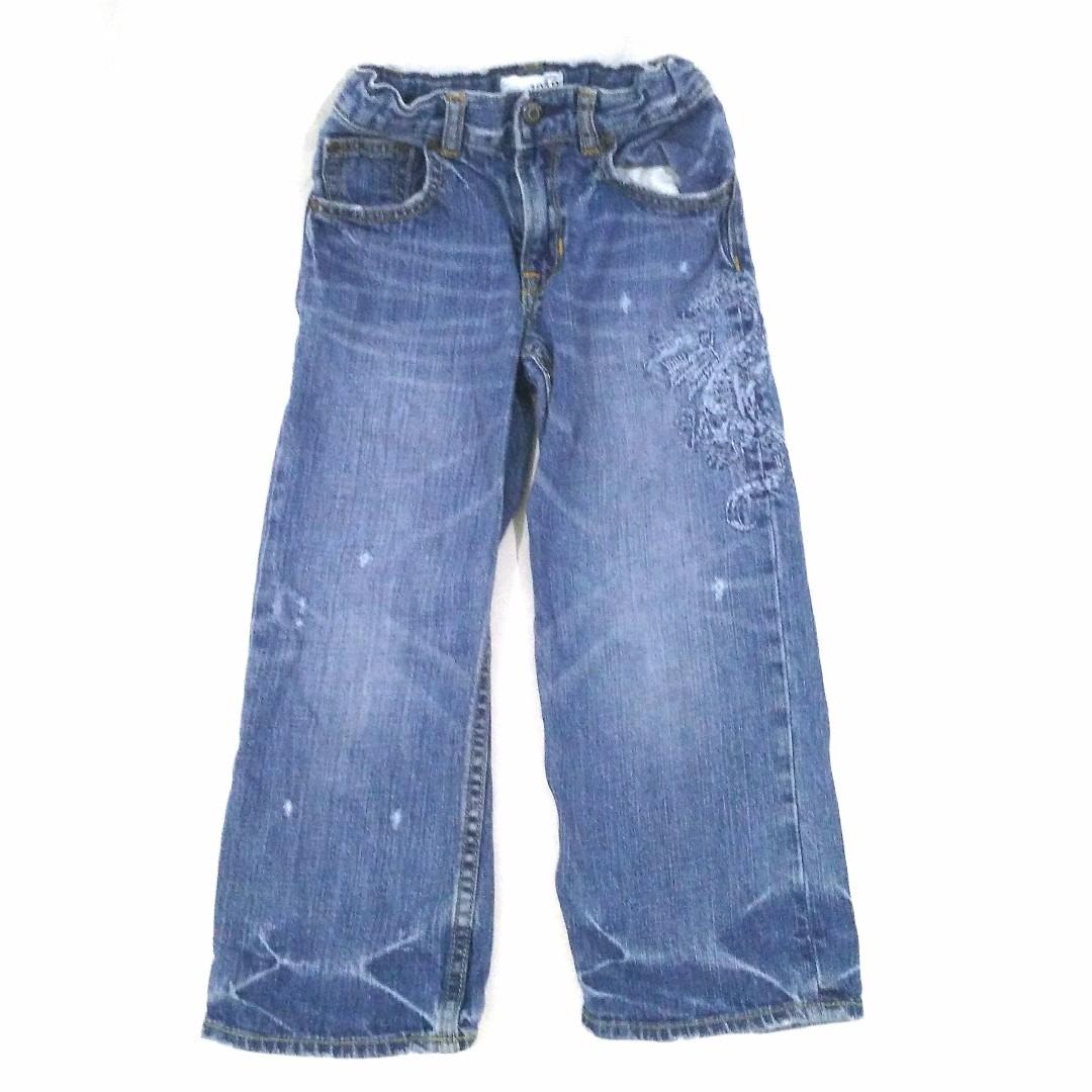 Celana Panjang Anak Jeans Biru Corak Merek GAP
