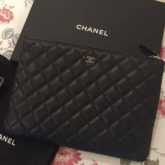 00c00d068d Chanel Quilted Pouch, Luxury, Bags & Wallets on Carousell