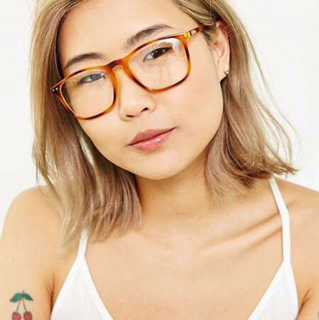 Clear Rectangle Frame Glasses