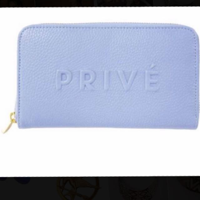 Cornflower Blue Zip Up Wallet