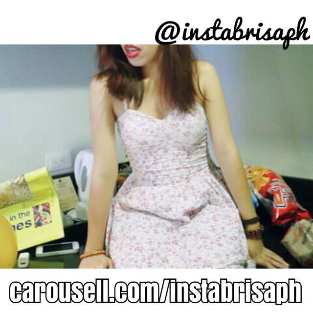 Corsette Floral Mini Dress