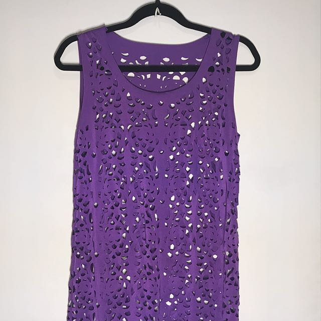 Cut-out Purple Cover Up