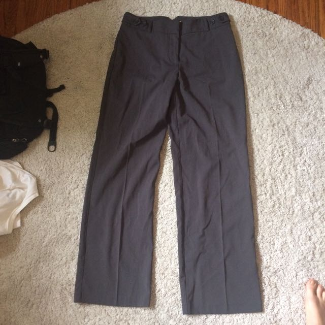 Dark Grey Flare Dress Pant