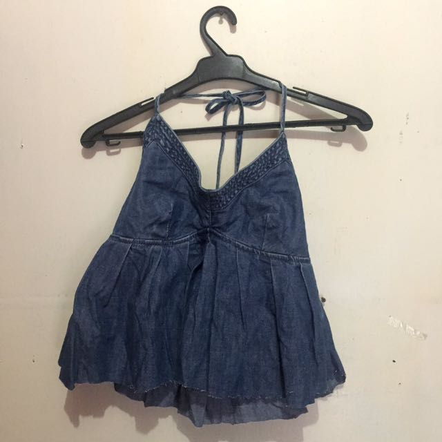 Denim Backless