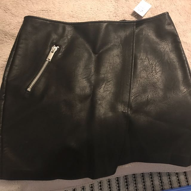 DOTTI - Faux Leather Mini Skirt