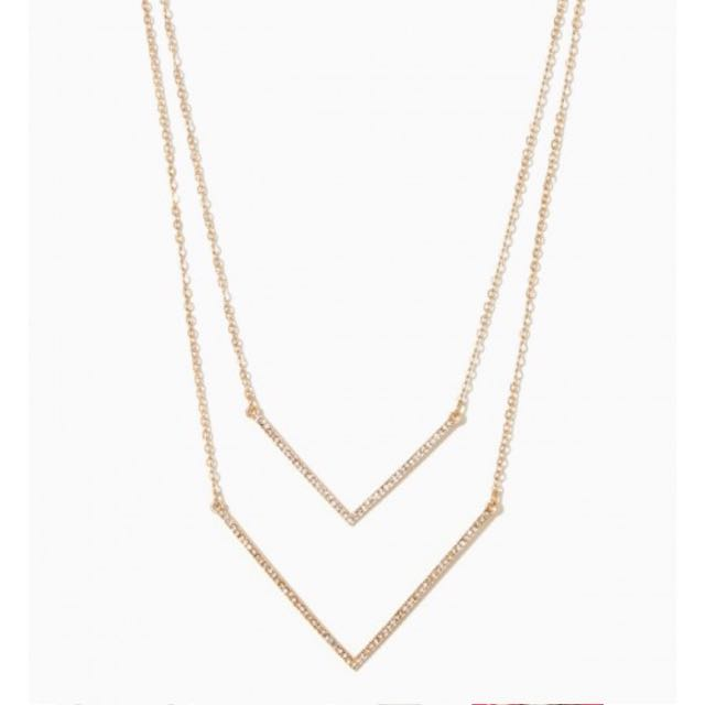 Double V Necklace (silver)