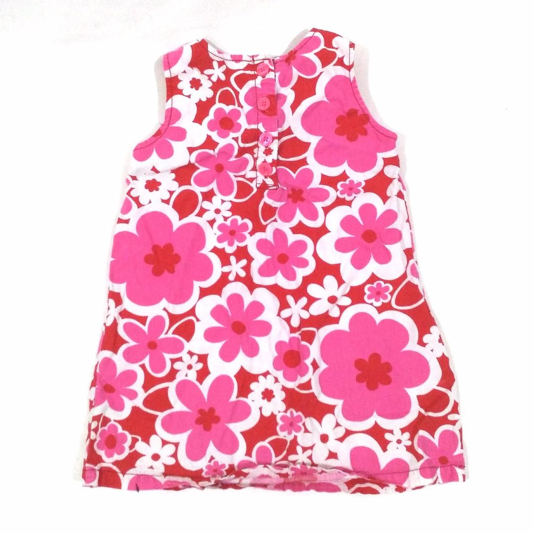 Dress Bunga Anak Pink Lucu Santai Merek Carter's Umur 5 tahun