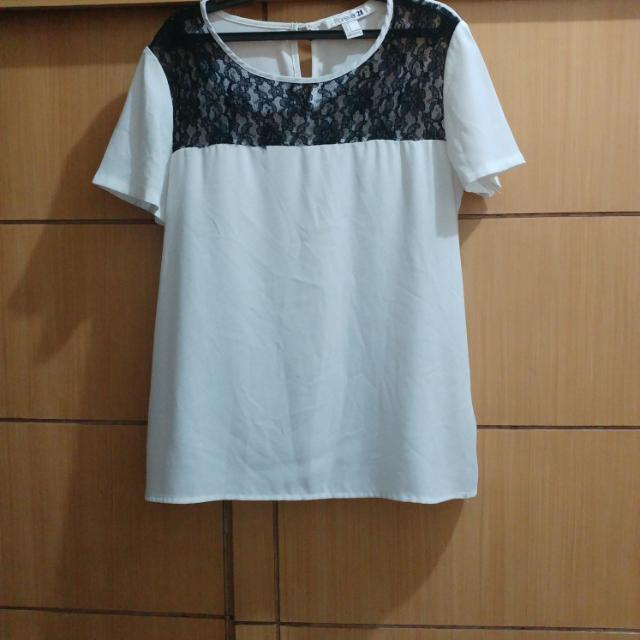F21 Off White Top