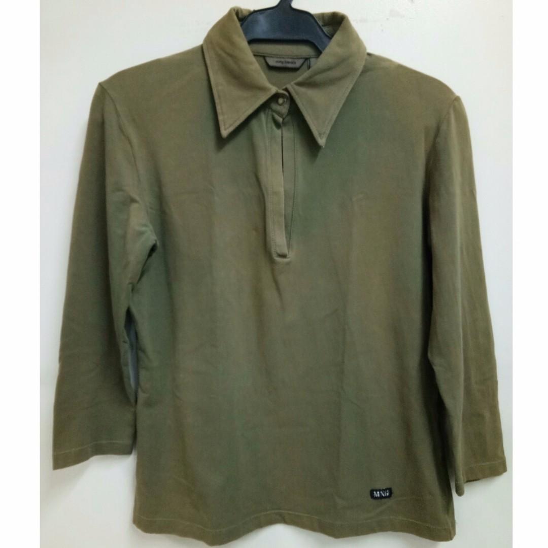 Faded MNG Basics Green polo long sleeves