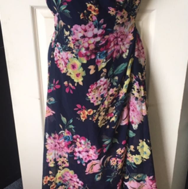 Floral Wrap Around Dress