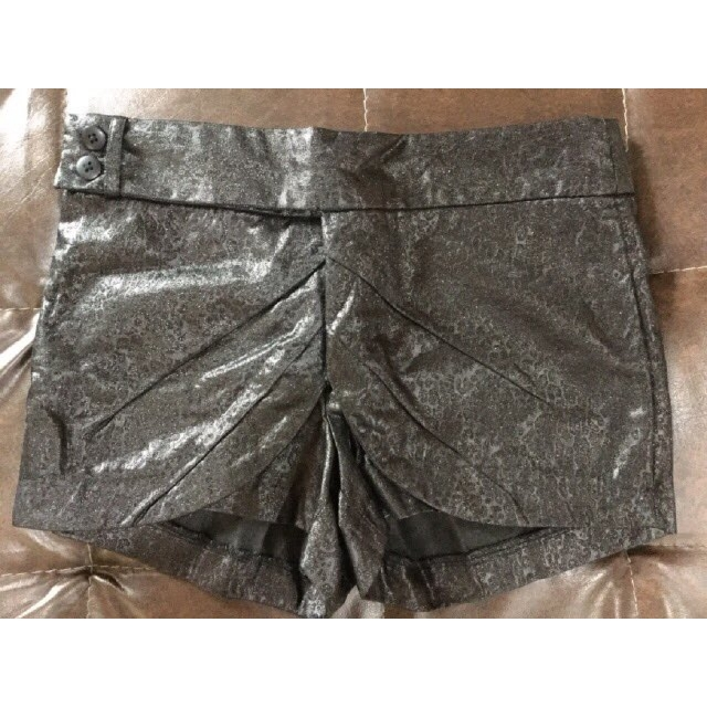 Folded & Hung Black Glitter Shorts