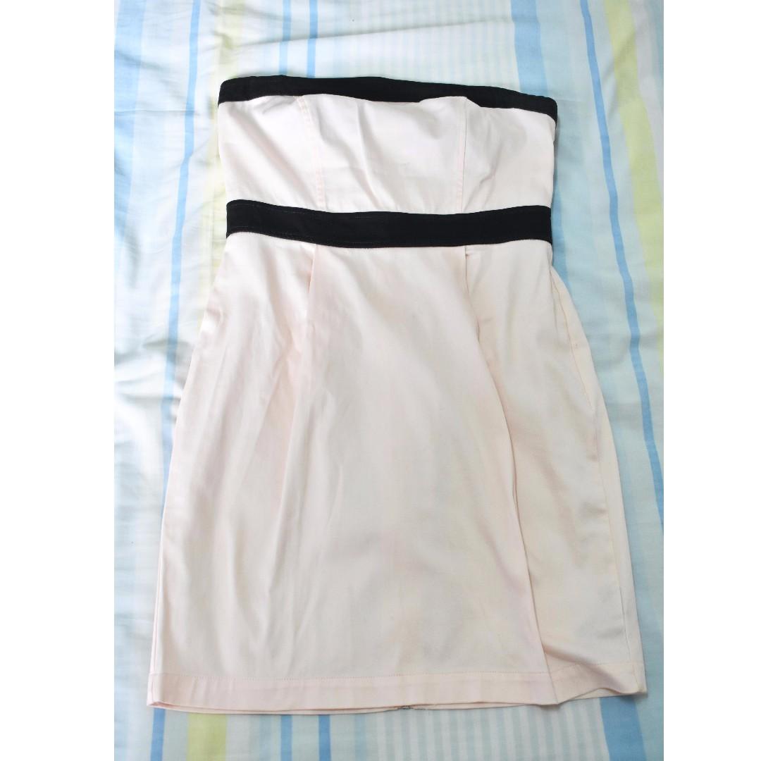 Forever 21 Pale Pink Tube Dress ala Regina George