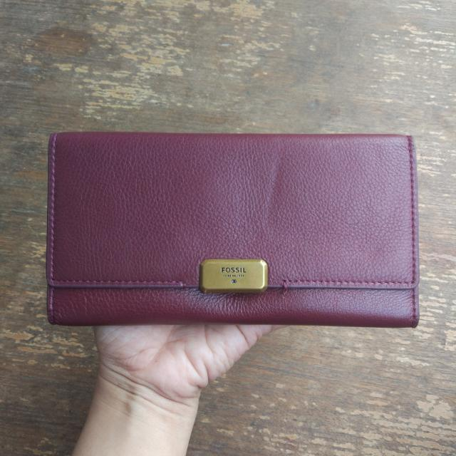 Fossil Emerson Maroon Dompet