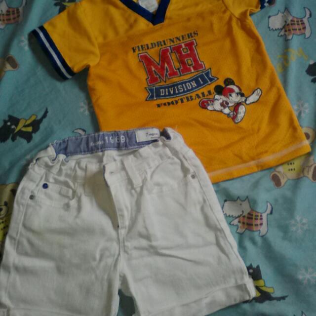 Gap Short & Mickey Shirt