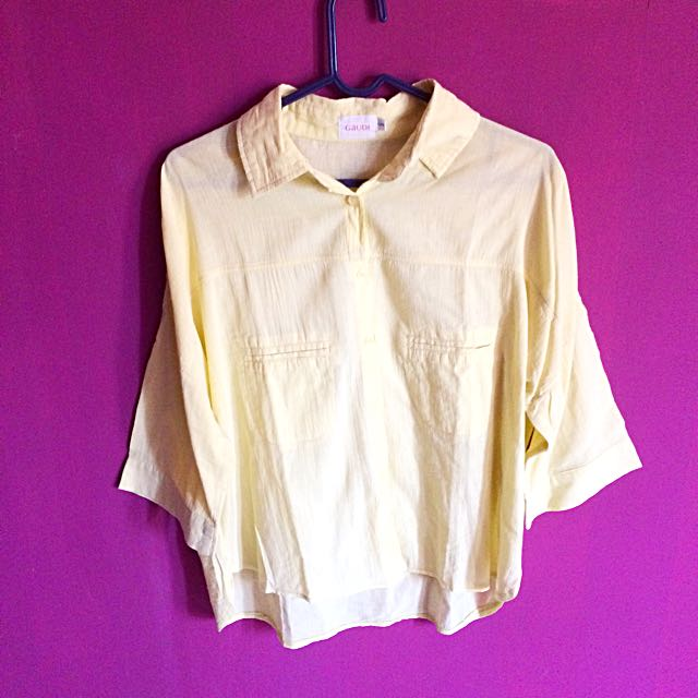 Gaudi Yellow Crop Shirt