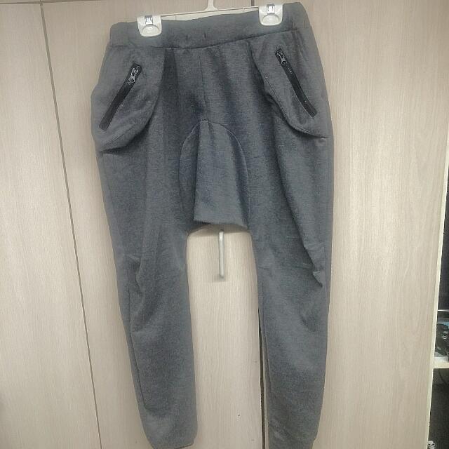 Gray Haram/jogger Pants