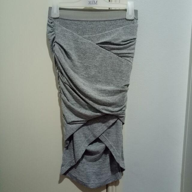 Grey Long Skirt