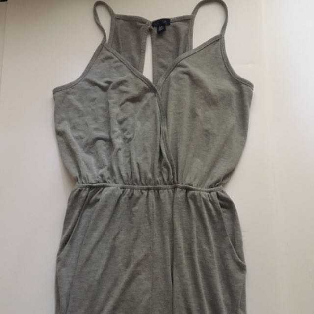 Grey Tank Jumpsuit